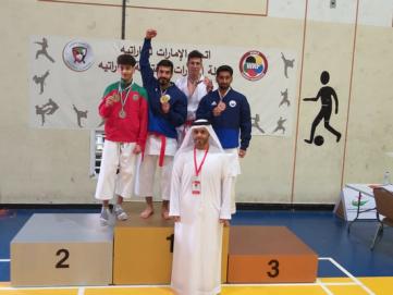 كاراتيه نادي الشارقة يتوج ببطولة الإمارات المفتوحة