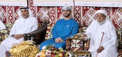 سلطان بن حمدان بن زايد يزور عزب المشاركين في مهرجان الظفرة