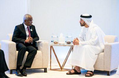 عبدالله بن زايد يبحث تعزيز التعاون مع رئيس المالديفv