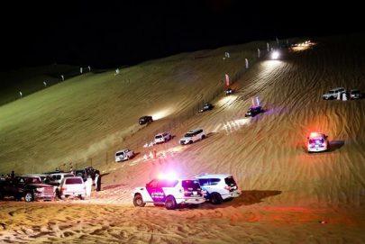 شرطة أبوظبي تقدم خدمات توعوية لرواد مهرجان تل مرعب