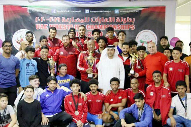 الفجيرة يحرز لقب بطولة الإمارات للمصارعة لفئة الشباب