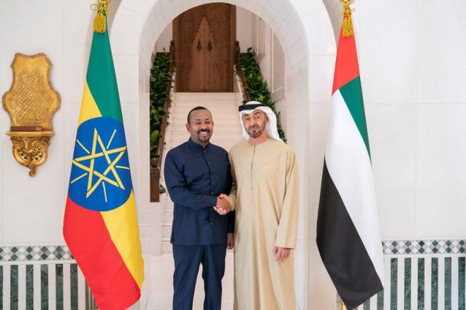 محمد بن زايد يبحث تعزيز التعاون مع رئيس وزراء إثيوبيا
