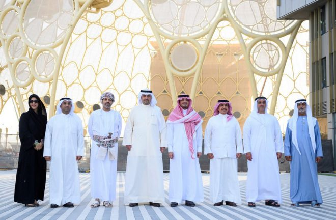 سيف بن زايد ووزراء داخلية السعودية والبحرين والكويت وسلطنة عمان يزورون موقع