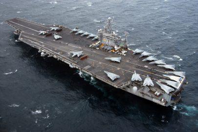 السفن الحربية العملاقة في ظروف الوباء