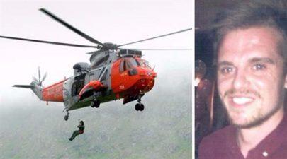 إنقاذ راكب أمواج بمروحية في أحد شواطئ أستراليا