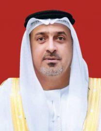 سلطان بن خليفة يعزي حاكم الشارقة بوفاة الشيخ أحمد بن سلطان القاسمي