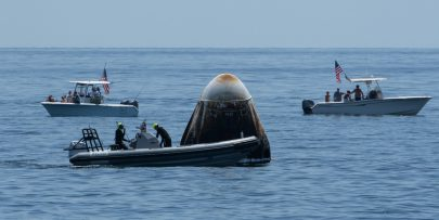 إحدى كبسولات عودة رواد فضاء ناسا