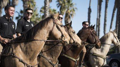 قوة الفضاء الأمريكية تستخدم الخيول في قواعدها
