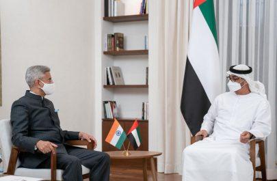 محمد بن زايد يبحث مع وزير الشؤون الخارجية في الهند تعزيز الصداقة التاريخية والتعاون بين البلدين