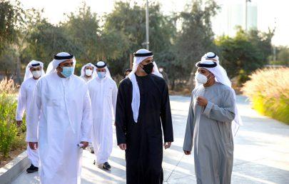خالد بن محمد بن زايد يفتتح حديقة الفي في جزيرة الريم