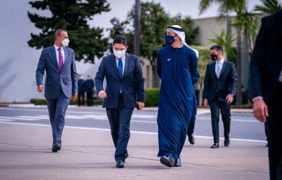 عبدالله بن زايد يبحث التعاون والمستجدات مع وزير خارجية المغرب