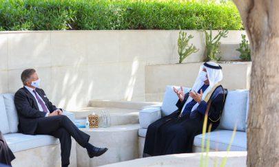 حاكم رأس الخيمة يبحث تعزيز العلاقات مع السفير السويسري لدى الدولة