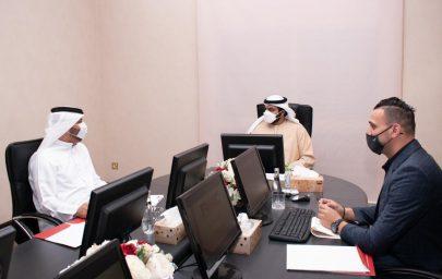 محمد الشرقي يترأس اجتماع نادي الفجيرة للفنون القتالية