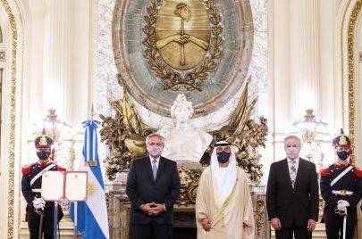 رئيس الأرجنتين يتسلم أوراق اعتماد سفير الدولة