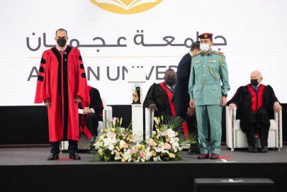 جامعة عجمان تكرم شرطة عجمان شريك استراتيجي