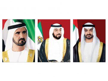 رئيس الدولة ونائبه ومحمد بن زايد يتلقون برقيات تهنئة من قادة الدول العربية والإسلامية بمناسبة عيد الفطر