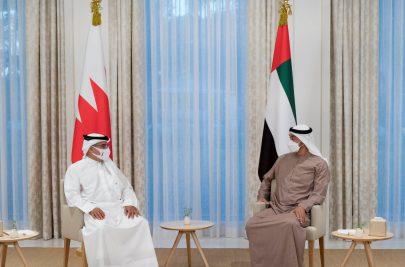 محمد بن زايد يبحث العلاقات الأخوية مع ولي عهد البحرين
