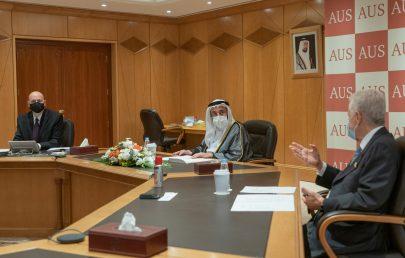 """سلطان القاسمي يترأس اجتماع مجلس أمناء """"أمريكية الشارقة"""""""