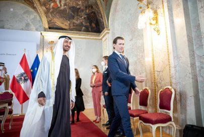 مستشار النمسا: زيارة ولي عهد أبوظبي مصدر سرور وشرف عظيم لنا