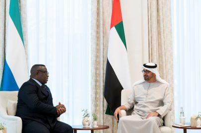محمد بن زايد يبحث تعزيز التعاون مع رئيس سيراليون